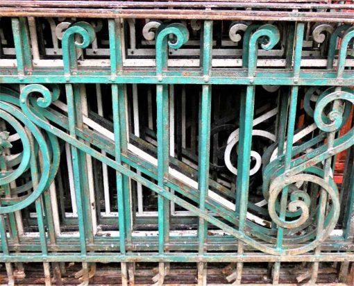 Antique wrought iron balcony fence-2