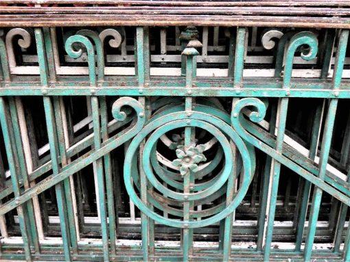 Antique wrought iron balcony fence-3
