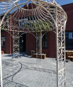 White iron gazebo-1