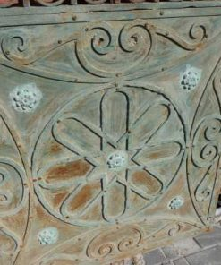 Antique wrought iron gate-3