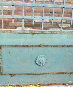 Smeedijzeren poort met zuilen hxb 280x290 cm-2