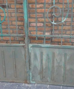 Wrought iron gate with columns-4