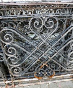 Antique wrought iron balcony fence-2