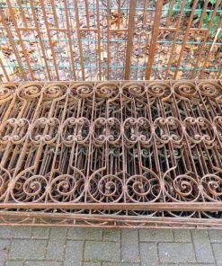 Antique wrought iron balcony fence-1
