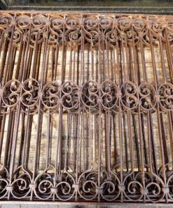 Antique wrought iron fencing-2