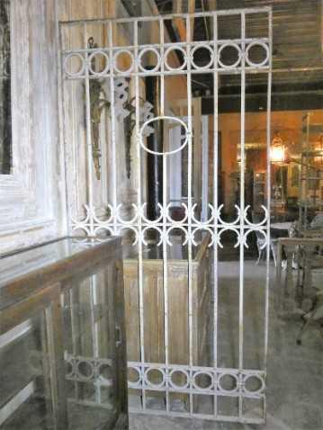 Antique white wrought iron ornamental fence-1