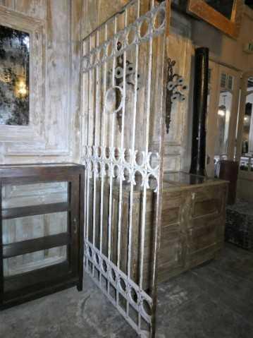 Antique white wrought iron ornamental fence-3