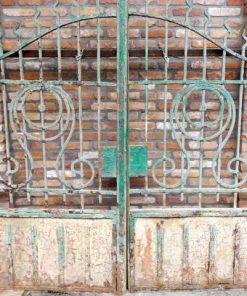 Antique wrought iron gate-1