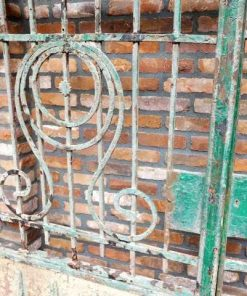 Antique wrought iron gate-2