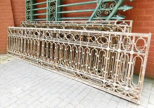 Antique wrought iron low fencing-1
