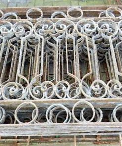 Low antique wrought iron fence-1
