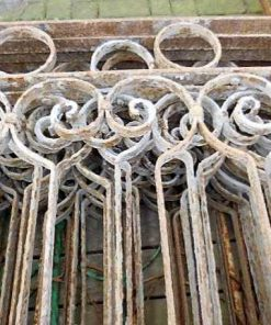 Low antique wrought iron fence-2