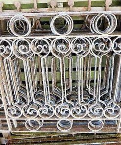 Low antique wrought iron fence-3