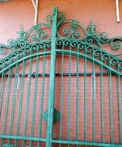 Wrought iron gate with columns-3