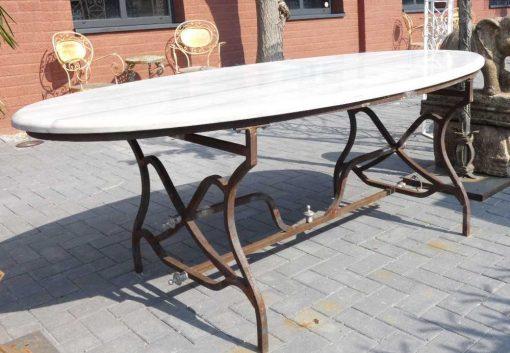 Oval garden table-1