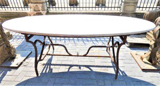 Oval garden table-2