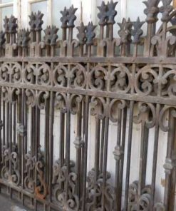 Antique wrought iron fence-3