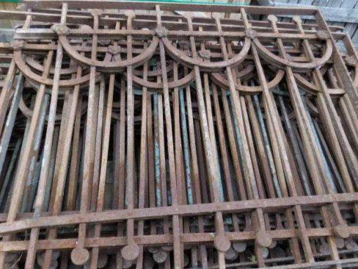 Antiker Art-Deco-Balkonzaun-1