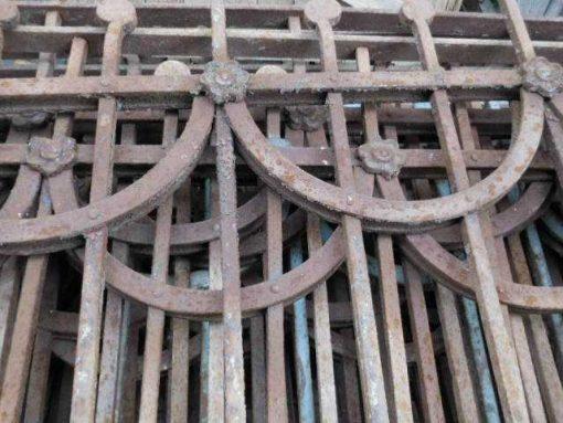 Antiker Art-Deco-Balkonzaun-3