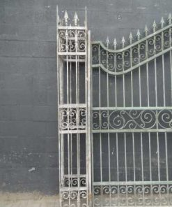 Wrought iron gate columns-2