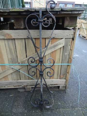 Antique wrought iron stair rails-1