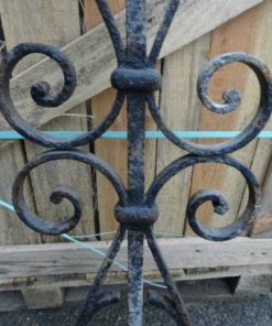 Antique wrought iron stair rails-2