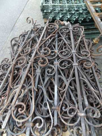 Antique wrought iron stair rails-3