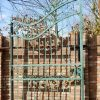 Wrought iron gate with passage of around - 1