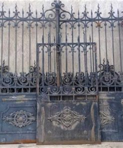 Antique Black Wrought Iron Gate-1