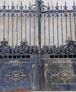 Antique Black Wrought Iron Gate-2