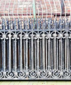 Antique Black Wrought Iron Fence-1