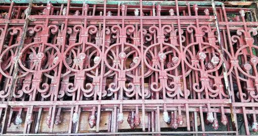 Antique wrought iron balcony fencing-1