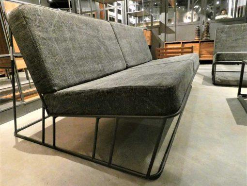 Dark grey 2-seater Couch-3