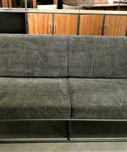 Dark grey 2-seater Couch-4