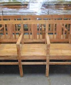 Teak cinema couch / chairs-1