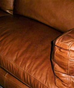 Cognac leather couch-2