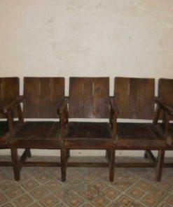 Vintage teak cinema seat-1