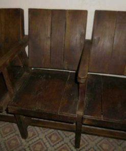 Vintage teak cinema seat-2