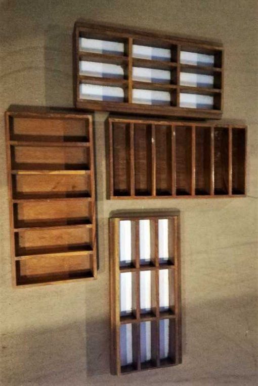 Decorative old wooden bins-2