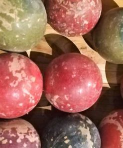 Vintage coloured wooden balls-1