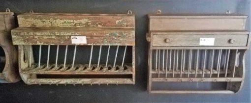 Vintage Holz-Küchenregale-1