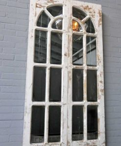 Antique Gothic window with mirrors-3