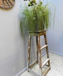Vintage wooden plant table-2