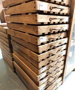 Vintage-Holztablett / Schale / Kiste-1