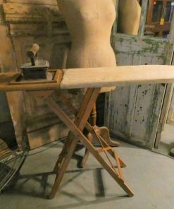Antique ironing board with iron-1