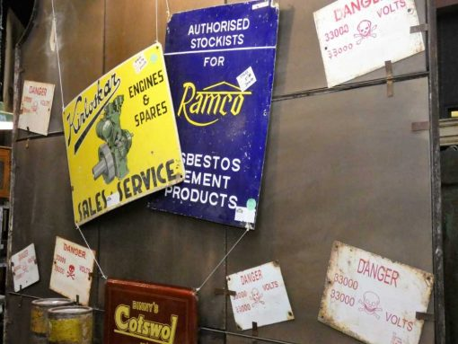 Vintage enamel billboards-1