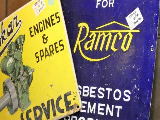Vintage enamel billboards-2