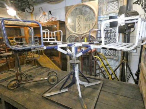 Vintage iron merry-go-round-1