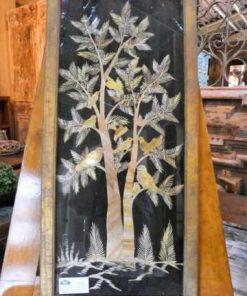 Oude houten lijsten met uit bamboe gesneden tafereel-4