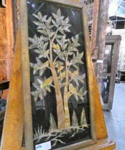 Oude houten lijsten met uit bamboe gesneden tafereel-5